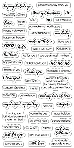 Fisakrs 4x8 Inch Clear Stamps- Essential Sayings