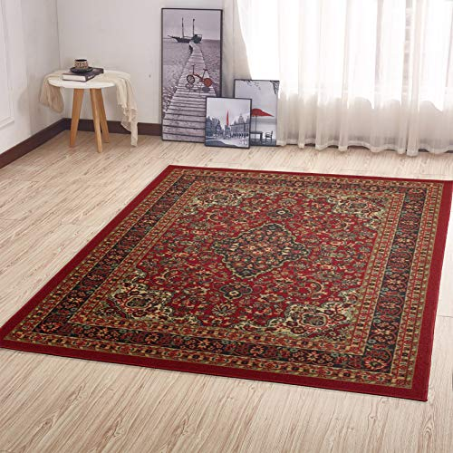 "Ottomanson Collection Persian Ottohome Oriental Rug, 8'2"" X 9'10"", Red Heriz"