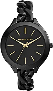 Michael Kors Casual Watch Analog Display For Women Mk3317, Black Band