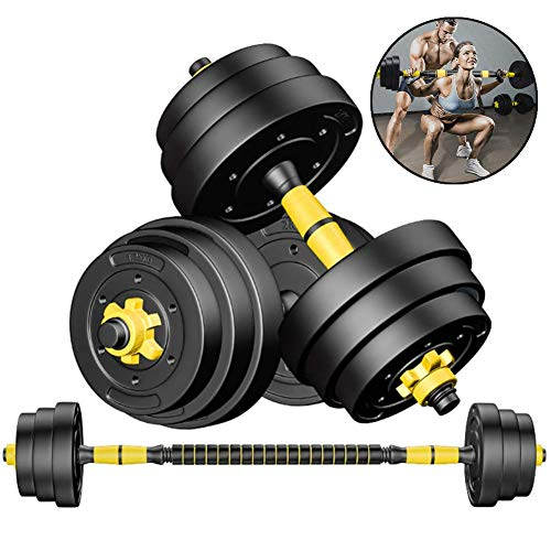 Adjustable Weights Dumbbells Set for Men and Woman with Connecting Rod Can Be Used As Barbell for Home Gym Workout Set of 2,40kg/88lb