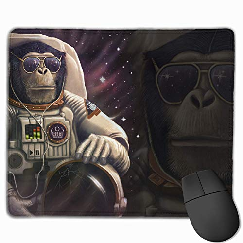 Preisvergleich Produktbild Mouse Pad Monkey Astronaut in Space Rectangle Rubber Mousepad 11.81 X 9.84 Inch Gaming Mouse Pad with Black Lock Edge