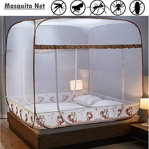 Yangm klamboe tent opvouwbaar bed klamboetennet perfect voor binnen en buiten eenvoudige installatie Geen chemicaliën versleutelde netten verdikte houder (180 x 200 x 170 cm)