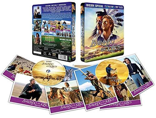 Bailando con Lobos BD + DVD Edición Metálica Limitada+ 8 Postales 1990 Dance With Wolves [Blu-ray]