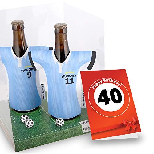 40. Geburtstag | Der Trikotkühler | Das Männergeschenk für 1860-Fans | Langlebige Geschenkidee Ehe-Mann Freund Vater Geburtstag | Bier-Flaschenkühler by Ligakakao