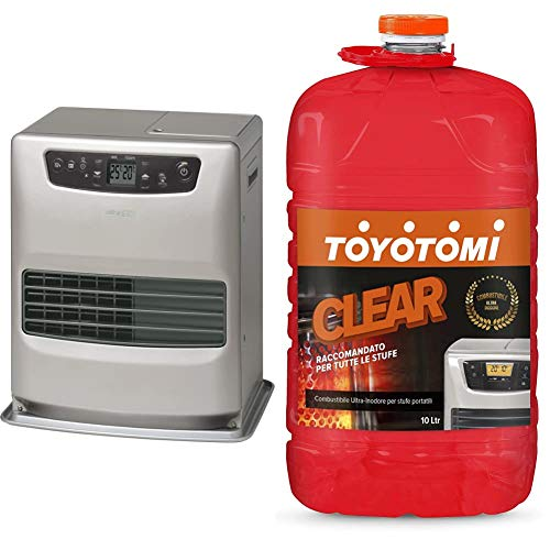 Zibro Lc 32 Stufa A Combustibile Elettronica, Portatile, 3200 W, Argento, Da 21M2 - 52M2, Senza Installazione & Toyotomi 2828554 Combustibile Universale Inodore Per Stufe Portatili