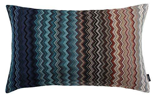 Eagle Products Firenze Kissen Zierkissen Kissenhülle l Größe 40x60 cm l Farbe 23 Blau-Petrol l Reine Schurwolle