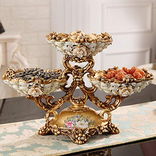 European Luxury Diamond Fruit Plate Figurines Aschenbecher Tissue Box Ornaments Home Möbeldekoration Basteln Hochzeitsgeschenke