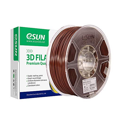 eSUN PLA+ Filament 2.85mm, PLA Plus 3D Printer Filament, Dimensional Accuracy +/- 0.03mm, 1KG (2.2 LBS) Spool 3D Printing Filament for 3D Printers, Brown