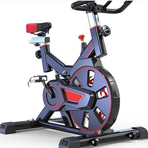 WGFGXQ Bicicleta de Ejercicio Bicicleta de Interior Bicicleta estacionaria Cómodo cojín de Asiento Manillar con múltiples empuñaduras Volante Pesado Versión Mejorada