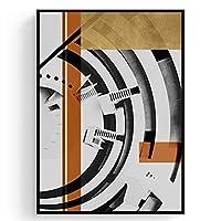 綺麗な 装飾的な絵画現代のミニマリストリビングルームのソファ戻る背景壁画建築産業スタイルの壁画 パーフェクト (Color : E, Size : 63*83cm)