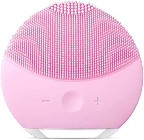 Cepillo de limpieza facial, cepillo exfoliante suave y sónico, cepillo limpiador eléctrico de silicona para limpieza profunda, eliminación de puntos negros y masajes