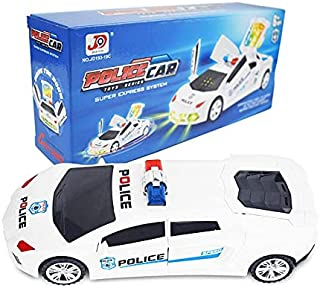 Briskarii Bump & Go Electric Police Car Live Action Transforming Toy Deformation Car with Lights and Sounds for Boys Girls...