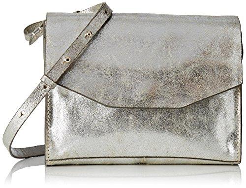 Clarks Treen Island Damen Henkeltaschen 7x18x23 cm (B x H x T), Silber (Silver Leather)