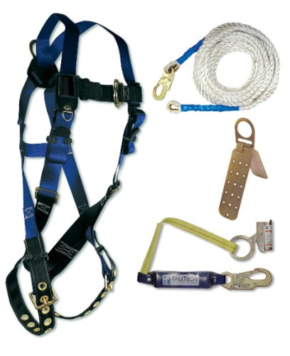 professional Fall Tech 8595A Contractor Belt, 4-Piece Roof Kit, Universal