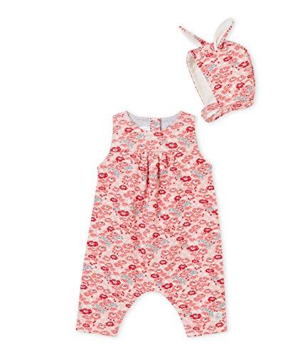 Petit Bateau Baby-Mädchen Salopette Longue_4509500 Latzhose, Mehrfarbig (Variante 1 00), 68 (Herstellergröße: 6M/67cm)