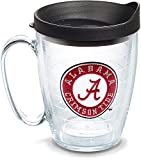 Tervis Alabama Crimson Tide Tumbler with Emblem and Black Lid 16oz Mug, Clear