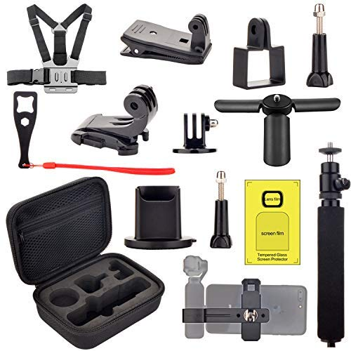 Accessoires Kit pour DJI Osmo Pocket - Transport étui Monter Poitrine Strap Backpack Clip Support Trépied pour Osmo Pocket Expansion Accessoires Kit