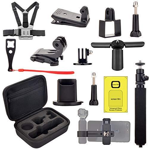 DJI Osmo Pocket Accessori Kit - Custodia da Trasporto Supporti Fascia Toracica Supporto Treppiede per Osmo Pocket Espansione Accessori Kit