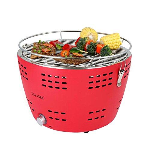 Tayama TYQ-001 - Parrilla de carbón portátil, color rojo