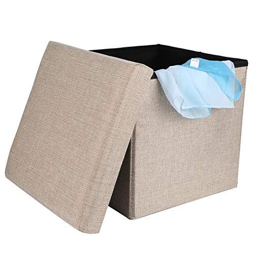 Fußstützenhocker, robuste Aufbewahrungsbox, staubdicht für Schlafzimmer(small)