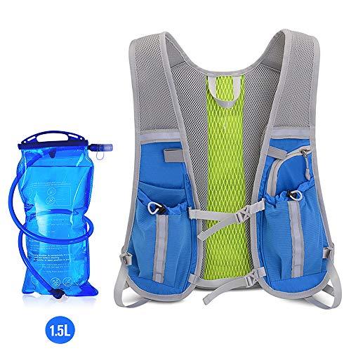 ENOUBAIL mochila de hidratación 5.5 L 6 bolsillos volumen Maratoner Running Race Chaleco de hidratación para correr, senderismo, mochila con mochila de hidratación