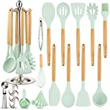 Silicone Kitchen Cooking Utensil Set, EAGMAK 16PCS Kitchen Utensils Spatula Set with Stainless Steel...