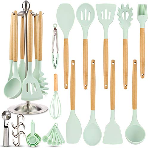 Silicone Kitchen Cooking Utensil Set, EAGMAK 16PCS Kitchen...