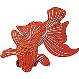 Peces parche hierro en Sew en bordado Badge bordado Applique pescado ojo grande