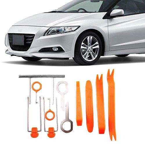 Swiftswan 12 pcs Car Radio Audio Door Clip Panel Trim Dash Removal Pry Tool Kit Hf-007 (Couleur : Orange et Argent)