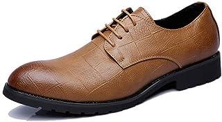 [Aumfa] ビジネスシューズ 紳士靴 内羽根 革靴 ウイングチップ 革靴 防水 防滑 耐磨耗 通気性 ストレートチップ
