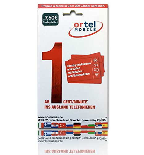 Ortel Mobile Starter Triple SIM 7,50 Euro Stgh