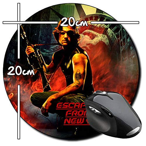 1997 Rescate En Nueva York Escape from New York Kurt Russell Alfombrilla Redonda Round Mousepad PC