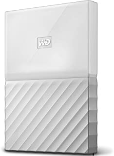 WD 西部数据 My Passport 2.5英寸 移动硬盘 2TB 闪耀白 WDBS4B0020BWT 配有密码保护功能和自动备份软件 德邦/顺丰发货 默认开电子发票 可开专票