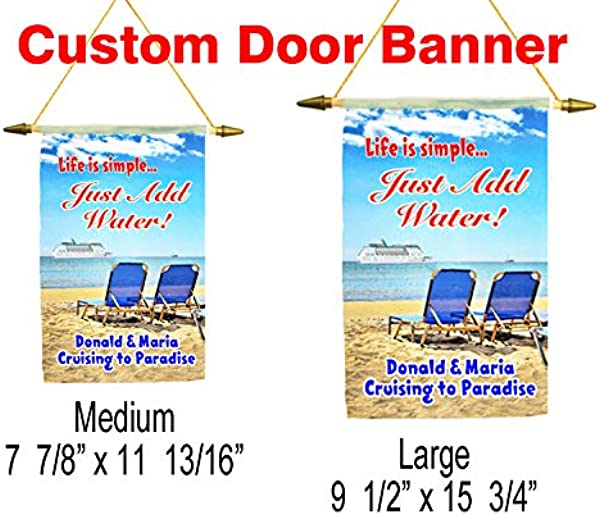 Cruise Ship Door Banner Customization Available For A Unique Banner