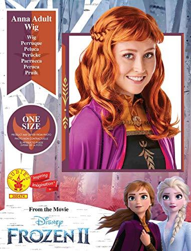Rubie's- Disney Frozen 2 Parrucca Anna Donna, Multicolore, 300474