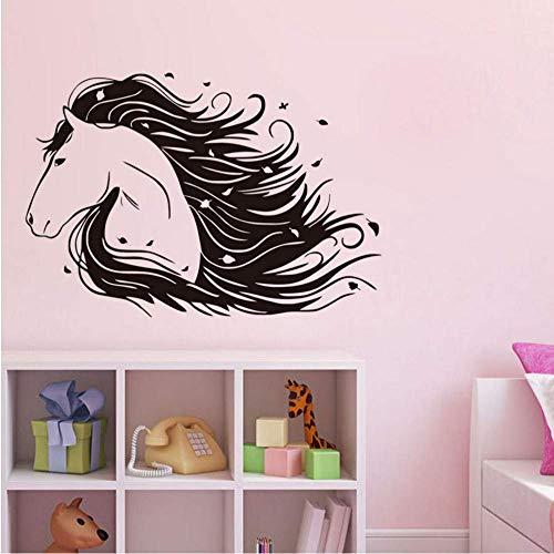 Mooie paard DIY muursticker voor kinderkamer afneembare vinyl muurkunst sticker dieren creatieve wooncultuur accessoires 85 * 58cm