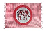 Sarong Pareo Wickelrock Strandtuch Tuch Schal Wickelkleid Strandkleid Blickdicht KOH Chang - Rot Elefanten Paisley Muster