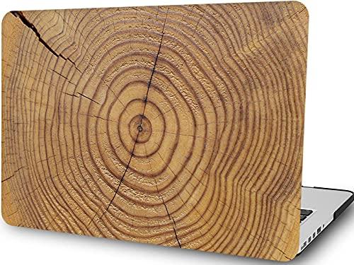 Funda de madera compatible con MacBook Pro de 13 pulgadas (2021 2020 2019 2018 2017 2016 versión A2338 M1/A2289/A2251/A2159/A1989/A1706/A1708), H2R2 Carcasa rígida de plástico - Madera
