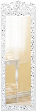 Accent Plus Elegant White Wall Mirror 9.87x0.5x30.5