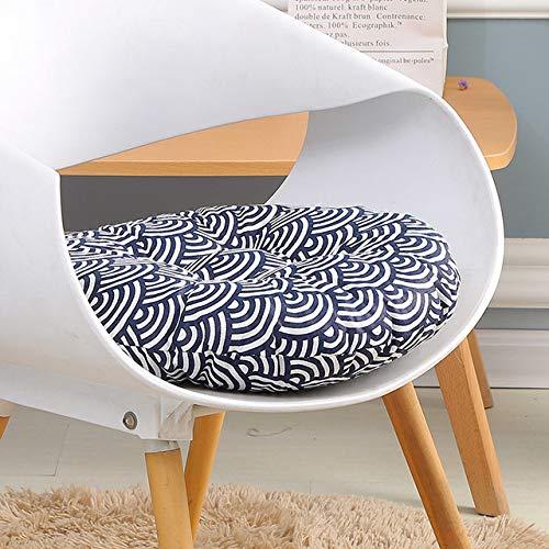 RAQ Zitkussen voor bureaustoel, zitkussen voor computerstoel, rond kussen, sofakussen, traditioneel zitkussen voor studenten 50x50cm Blauw