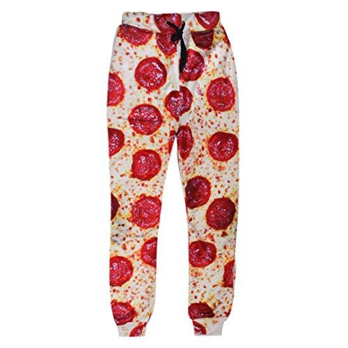 FR-pants-personality Galaxy Joggers Pantalons Femmes Hommes Bacon Cat Space 3D Imprimer Jogger Pantalons Pantalons De Survêtement Funny Shark Trousers 4 XL