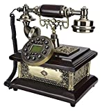Téléphone Vintage câblé,décor de téléphone à l'ancienne,avec volume réglable/rétroéclairage,mains libres Call/numéro Ré-cadran fonction rétro ligne fixe ligne fixe téléphone téléphone L'Ancienne