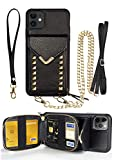 ZVE Case Compatible with iPhone 12 Pro/iPhone 12, Crossbody Wallet Case with...