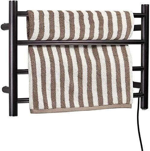 Toallero calefactado montado en la pared, Railleñas de toallas con calefacción Toalla eléctrica Calentador de toalla, Toalla eléctrica de 4 barras Rack de secado de toalla eléctrica para baño, Pasador