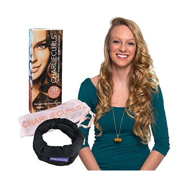 Beauty Shopping CharlieCurls: On The Go, One-Piece, Easy No Heat Hair Curler (Black (Box))