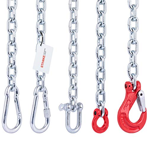 Seilwerk STANKE 50cm Befestigungsset zur Aufhängung von Hängematte, Hängesessel, Boxsack, mit Stahlkette 6 mm + Karabinerhaken ohne Schraubsicherung 10x100mm