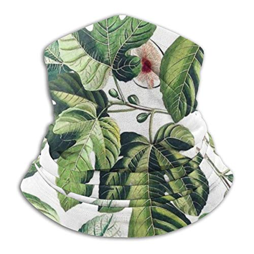 Higos hoja jardín higo hojas unisex polar cuello calentador cuello polaina para hombres mujeres