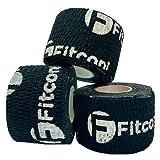 Fitconi - Pack 3 unds Tape Crossfit Dedos- Esparadrapo Deportivo - Medidas 3,8 cm x 4,5 Metros - Vendas Autoadhesivas - Cintas Elasticas Fitness - Vendaje