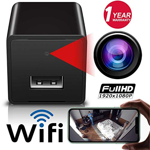 Wireless WiFi Camera, 1080p Hidden Spy Camera Charger, USB Charger Camera, Motion Detection Cam,...
