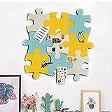 Tablón de anuncios de fieltro de corcho, juego de rompecabezas de pared con forma de pin de Eva Board autoadhesivo para guardar fotos, notas de dibujo, coloridas espuma, decoración de pared
